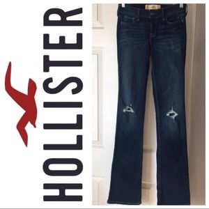 New! Size 0L Hollister High Rise Boot Cut Jeans